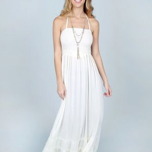 NWT! Altar'd State Hellenic Maxi Dress Ivory